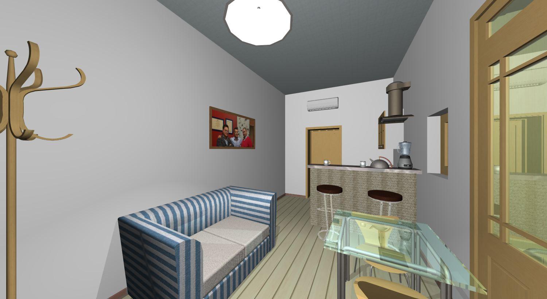 Mini appartamento 35 mq nel cuore del centro storico di for Piani di un appartamento di efficienza di una camera da letto